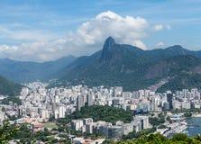 Гавань и горизонт Рио-де-Жанейро Бразилии Стоковое фото RF