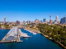 Гавань и горизонт Сиднея Стоковое Изображение RF