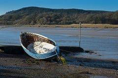 Гавань и маленькая лодка Kippford стоковое фото rf