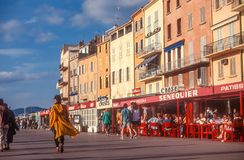 Гавань и старый городок St Tropez стоковое изображение rf