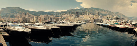 гавань Монако стоковое фото