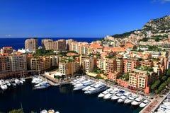 гавань Монако fontvieille Стоковое фото RF
