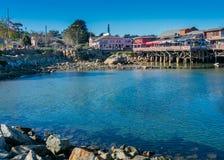 Гавань Монтерей на в воскресенье утром стоковые фотографии rf