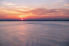 Гавань на заходе солнца, Англия - Великобритания корпуса стоковое фото rf