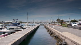 Гавань на Средиземном море, южной Франции акции видеоматериалы