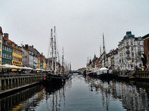 Гавань на Nyhavn Стоковые Фотографии RF