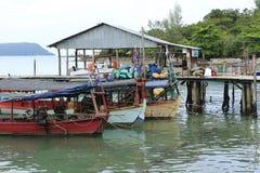 Гавань на Sihanoukville в Камбодже стоковое фото
