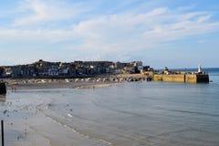 Гавань на St Ives, Корнуолле, Великобритании стоковые фото