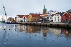 гавань Норвегия stavanger гостя Стоковое Фото