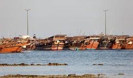 Гавань доу в Катаре Стоковые Изображения