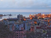 Гавань Порт Луи на сумерк Стоковое Фото