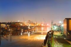 гавань промышленная стоковые изображения rf