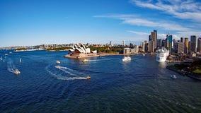 Гавань Сиднея, Австралия, оперный театр Стоковое Изображение RF