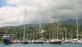 гавань Таити стоковое фото rf