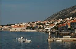 гавань Хорватии brac стоковое изображение rf