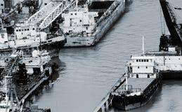 гавань шлюпок цветастая Стоковые Изображения RF