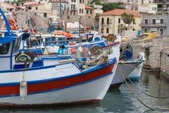 Гавань шлюпки в Греции Стоковые Изображения RF