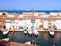Гавань яхты в порте Grimaud, Франции Стоковое Изображение