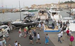 Гавань яхты St Tropez, Франции стоковые фотографии rf