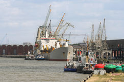 гавань antwerp Стоковое Фото