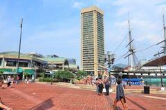 гавань baltimore внутренняя стоковая фотография