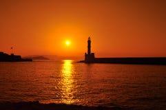 гавань chania Стоковая Фотография RF