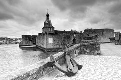 Гавань Concarneau в побережье Finistere стоковые изображения