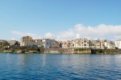 гавань corfu стоковое изображение