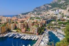 Гавань Fontvieille в Монако Монте-Карло Стоковая Фотография RF