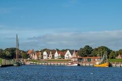 Гавань Greetsiel, Германии стоковое изображение rf