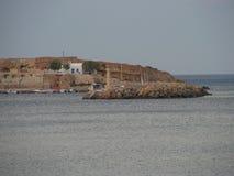 гавань hersonissos стоковые фотографии rf