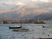 гавань hersonissos стоковая фотография rf