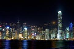 гавань Hong Kong victoria Стоковое Изображение