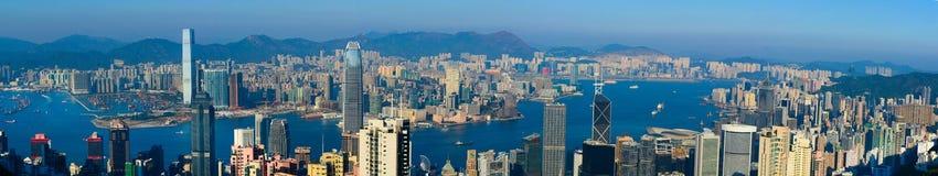 гавань Hong Kong victoria Стоковые Фото