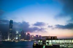 гавань Hong Kong victoria Стоковая Фотография