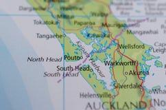 Гавань Kaipara на карте Стоковое Фото