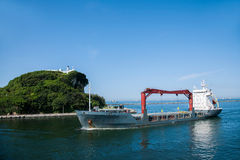 Гавань Kaohsiung от корабля челнока Стоковые Изображения