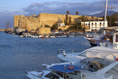 Гавань Kyrenia - турецкий Кипр Стоковая Фотография