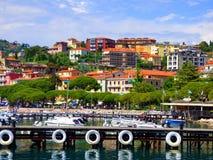 Гавань Lerici Италии на заливе Ла Spezia в Средиземном море стоковое фото rf