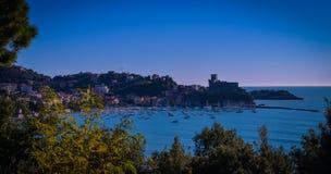 Гавань Lerici, Ла Spezia, Лигурия, Италия стоковое фото rf