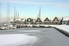 гавань marken Нидерланды Стоковые Изображения