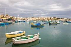 Гавань Marsaxlokk, Мальта Стоковая Фотография