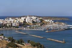 Гавань Nikolaos ажио, Крит, Греция стоковое фото rf