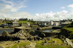 гавань portsoy Шотландия Стоковое Изображение RF