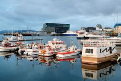 Гавань Reykjavik в Исландии Стоковые Фото
