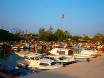 Гавань ` s рыболовов в Турции стоковое изображение rf