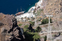 Гавань Santorini Стоковая Фотография RF