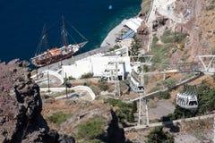 Гавань Santorini Стоковое Изображение