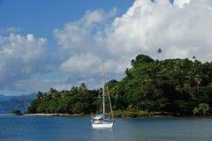 Гавань Savusavu, остров Vanua Levu, Фиджи стоковые изображения rf