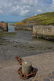 Гавань Solva, Pembrokeshire, приливы вне стоковое фото rf